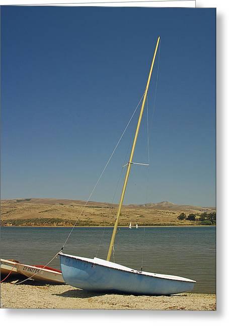 Blue Sailboat II Greeting Card
