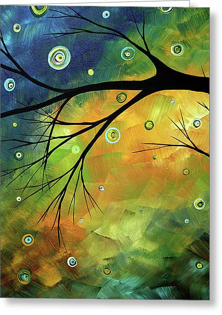 Buy Original Art Online Greeting Cards - Blue Sapphire 2 by MADART Greeting Card by Megan Duncanson