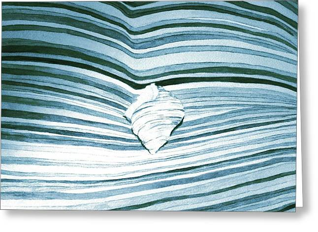 Blue Sea Greeting Card by Constance Larimer