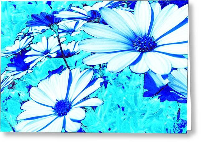 Blue Season Greeting Card by Ingrid Dance
