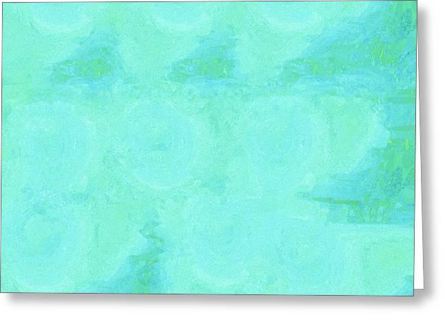 Blue Serenity Greeting Card by Eloise Schneider