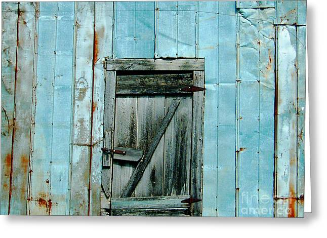 Blue Shed Door  Hwy 61 Mississippi Greeting Card