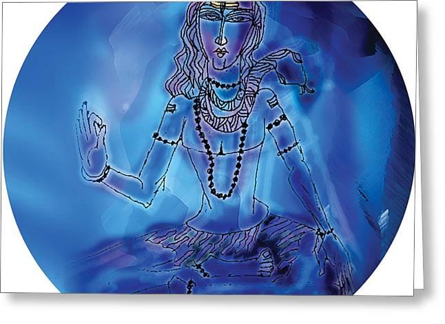 Blue Shiva  Greeting Card