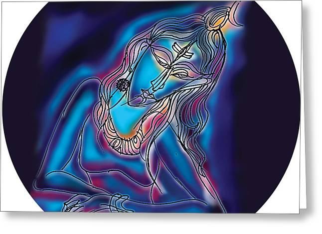 Blue Shiva Light Greeting Card