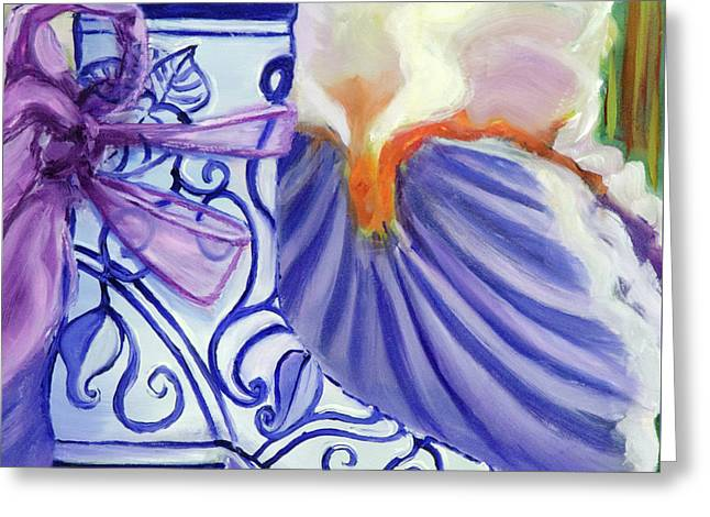 Blue Shoe, Painting Of A Painting Greeting Card