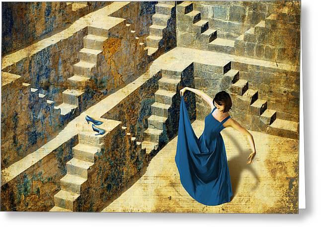 Blue Shoes Greeting Card by Van Renselar