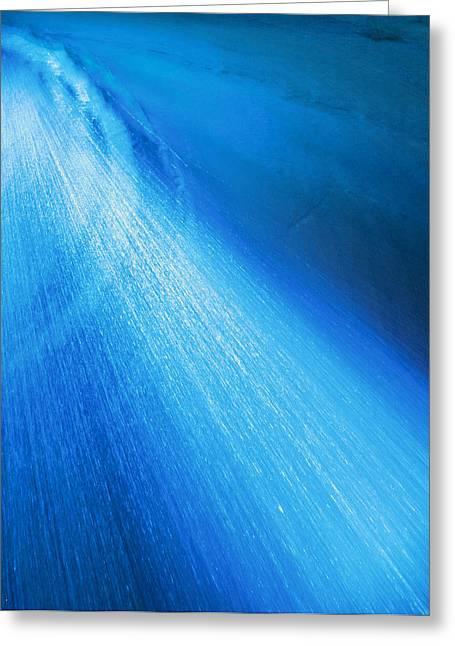 Blue Shower Greeting Card by Johann Todesengel