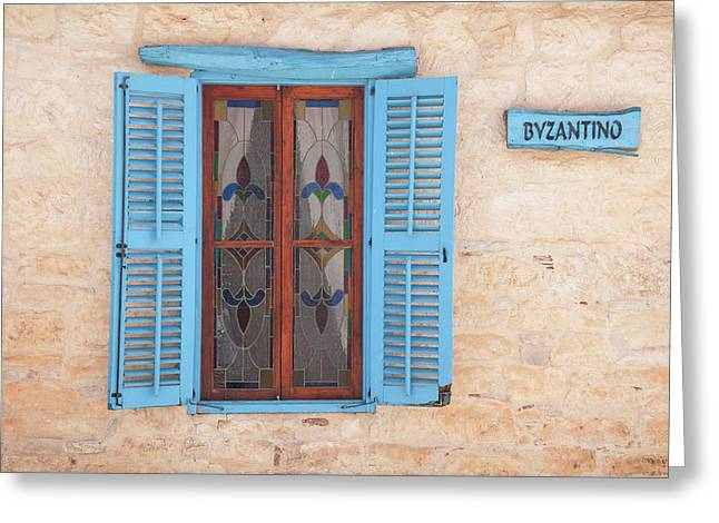 Blue Shutters Greeting Card by Jeremy Voisey