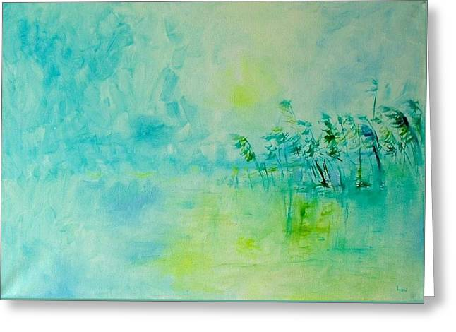 Blue Silence Greeting Card by Demeter Gui