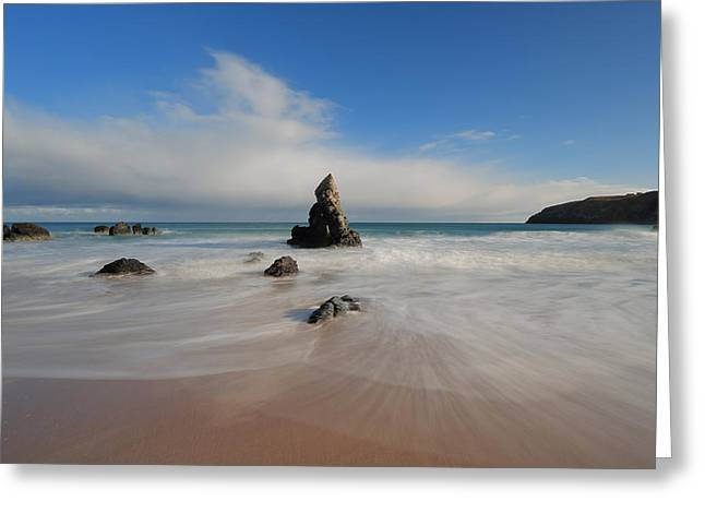 Blue Skies Above Sango Bay Greeting Card