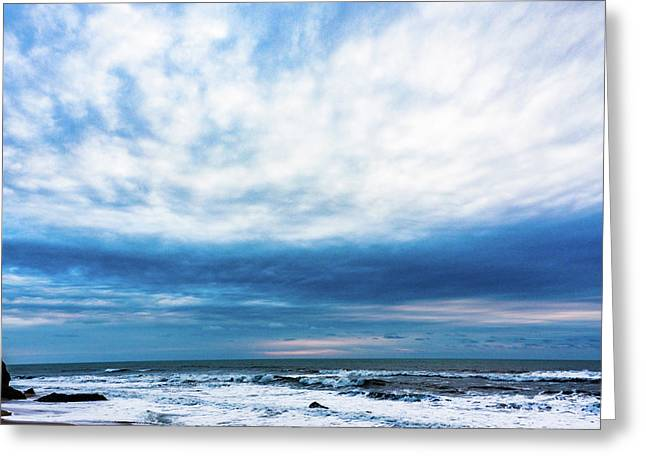 Emotion And Departure At Half Moon Bay Greeting Card by Robin Zygelman