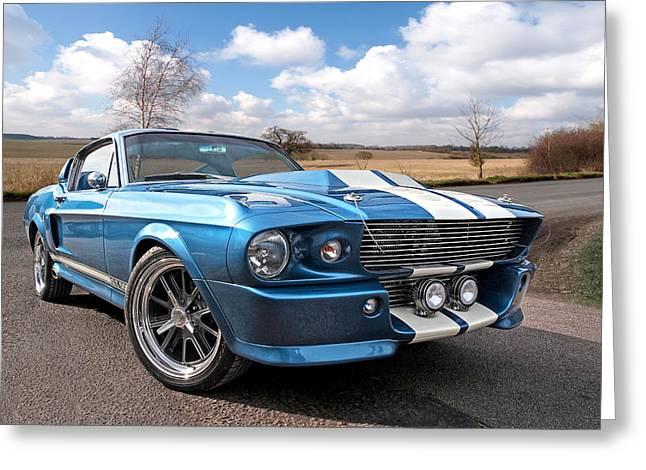 Blue Skies Cruising - 1967 Eleanor Mustang Greeting Card