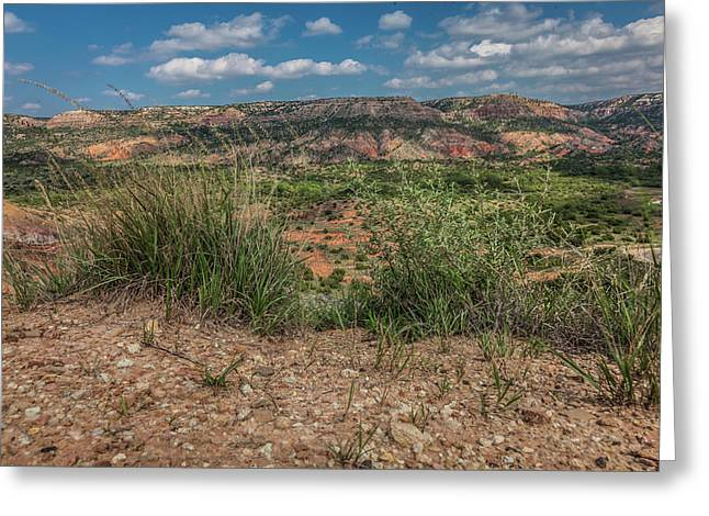 Blue Skies Over Palo Duro Canyon Greeting Card
