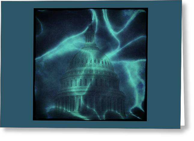 Blue Skies Over Washington Greeting Card by Diane Parnell