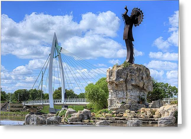 Blue Skies Over Wichita Greeting Card