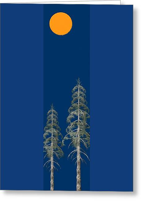 Greeting Card featuring the painting Blue Sky by David Dehner