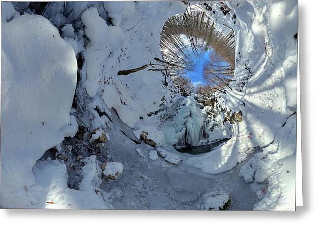 Blue Sky Hole Greeting Card