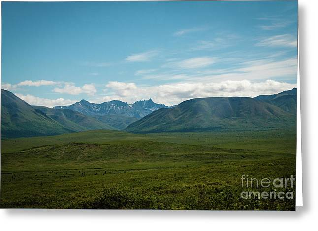 Blue Sky Mountians Greeting Card