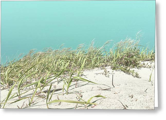 Greeting Card featuring the photograph Blue Sky Over Sea Grass by Cindy Garber Iverson