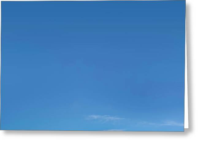 Blue Sky Greeting Card by Scott Norris