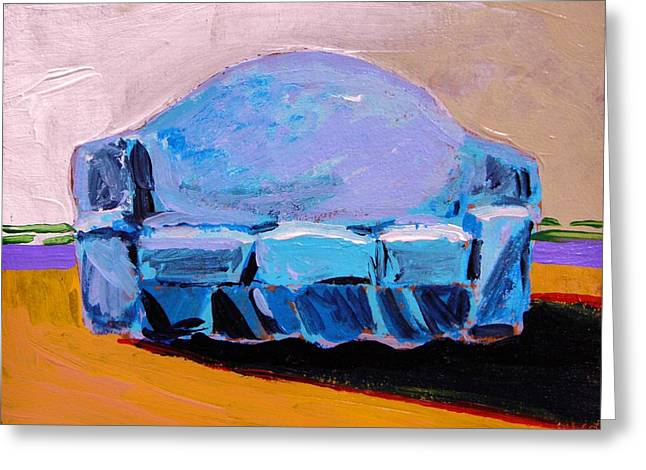 Greeting Card featuring the painting Blue Slipcover by John Williams