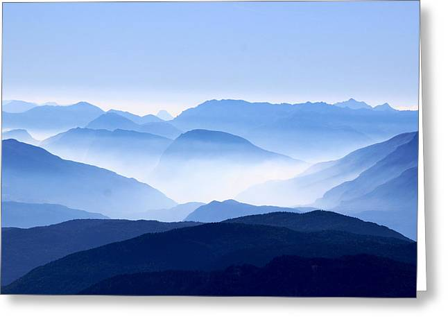 Blue Smoky Mountains Greeting Card by Design Turnpike