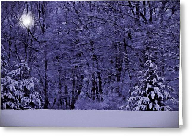 Greeting Card featuring the photograph Blue Snow by David Dehner