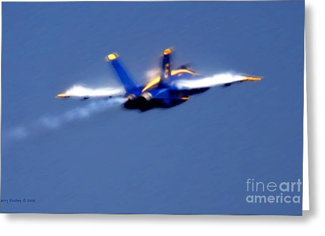 Greeting Card featuring the photograph Blue Solo by Larry Keahey
