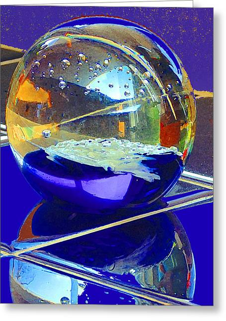 Blue Sphere Greeting Card