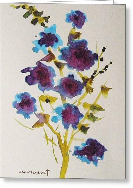 Blue Spring Greeting Card