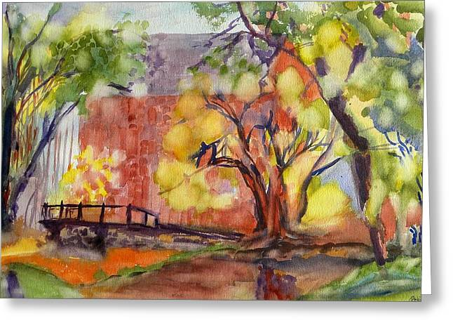 Blue Springs Mill Greeting Card by Patricia Bigelow