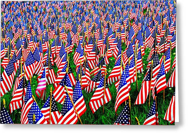 Sea Of Stripes And Stars Greeting Card by Diana Angstadt