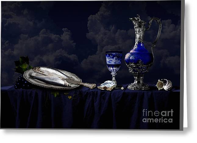 Still Life In Blue Greeting Card