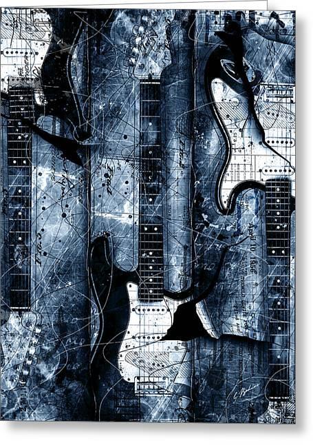 Blue Stratos Greeting Card by Gary Bodnar
