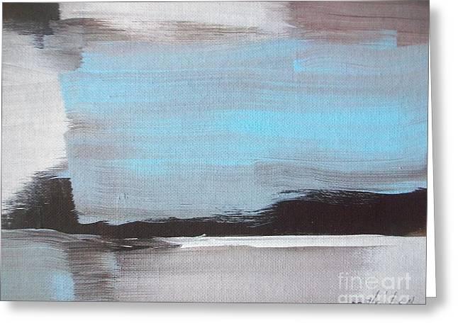 Blue Streak Greeting Card by Marsha Heiken