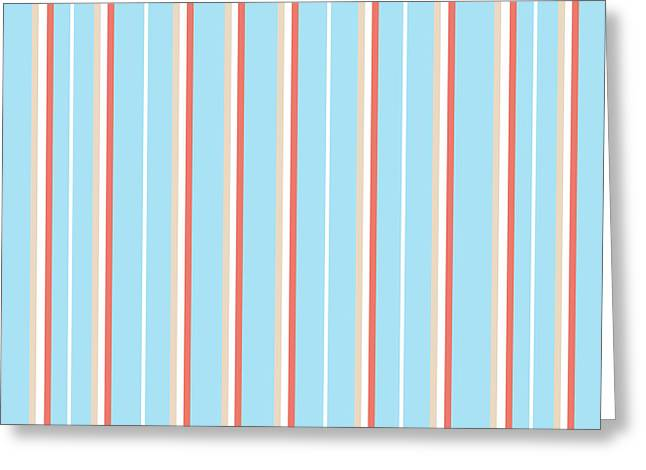 Blue Stripe Pattern Greeting Card
