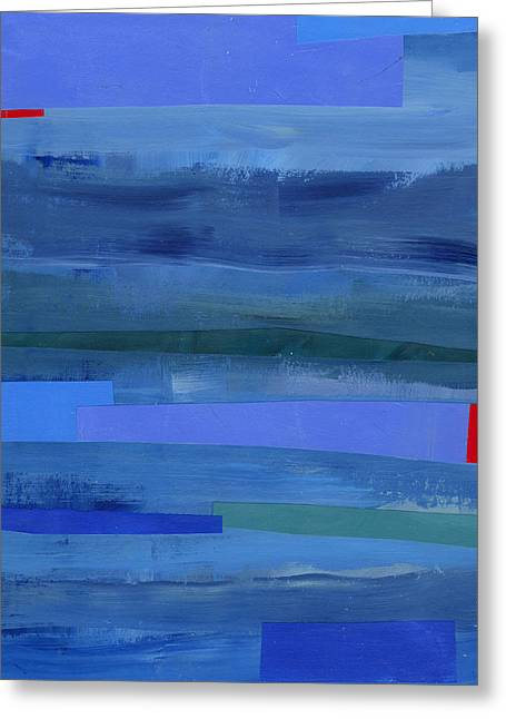 Blue Stripes 1 Greeting Card by Jane Davies