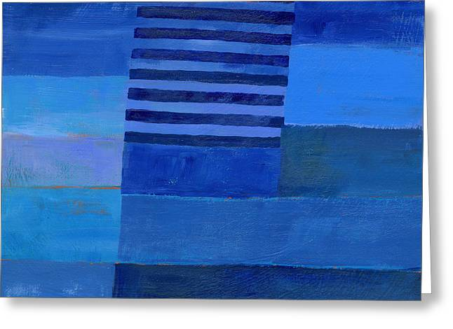 Blue Stripes 7 Greeting Card