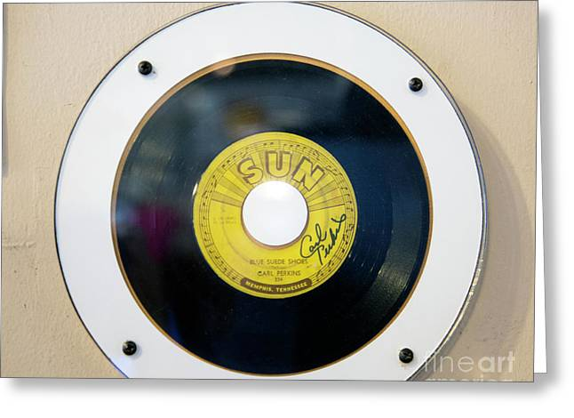 Blue Suede Shoes Carl Perkins 45 Rpm  Greeting Card