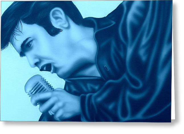 Blue Suede Shoes Greeting Card by Darren Robinson