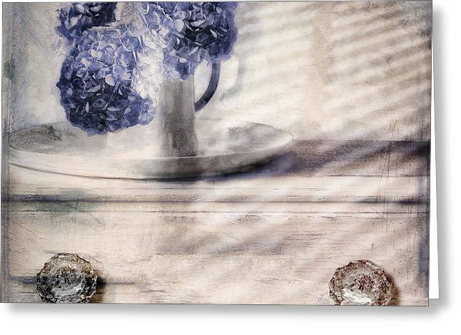 Blue Sunday Greeting Card by Mindy Sommers