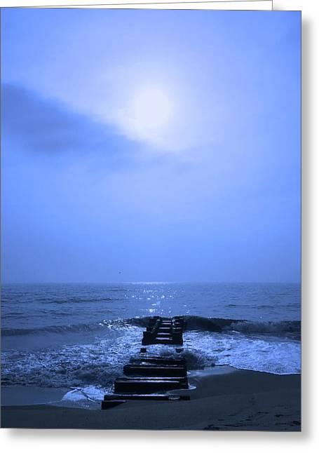 Blue Sunrise Greeting Card
