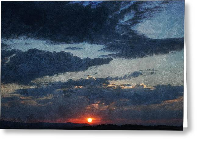 Blue Sunset Greeting Card by Dorothy Berry-Lound