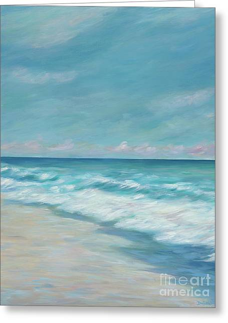 Blue Surf Greeting Card by Danielle Perry