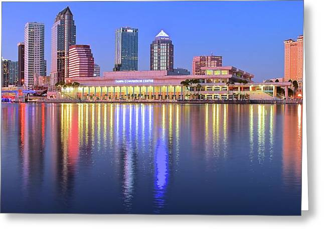 Blue Tampa Bay Greeting Card by Frozen in Time Fine Art Photography