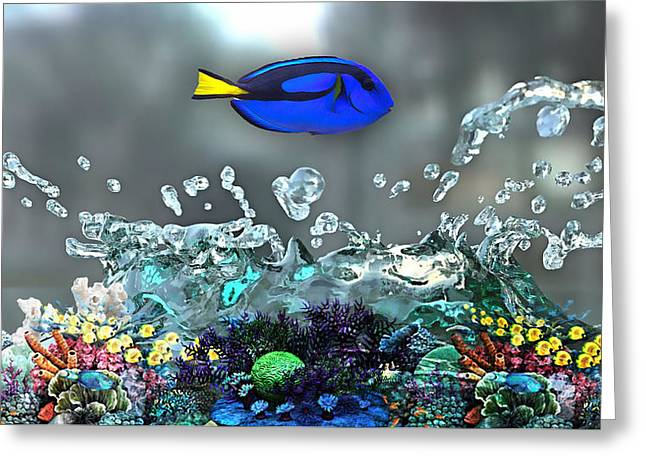 Blue Tang Collection Greeting Card by Marvin Blaine