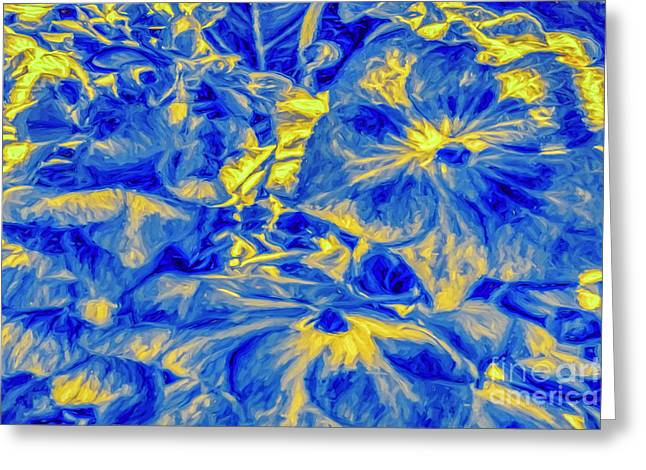 Blue Tango Floral Greeting Card
