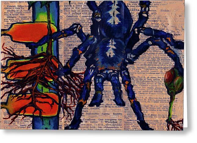 Blue Tarantula Greeting Card