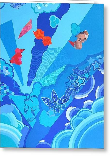 Blue That Surrounds Me Greeting Card by Takayuki  Shimada