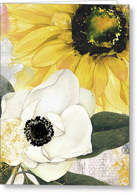 Blue Then Yellow II Greeting Card by Mindy Sommers